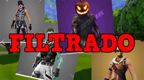 skins filtradas  halloween  fortnite youtube