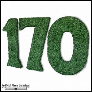 go green with artificial outdoor living wall letters With outdoor letters