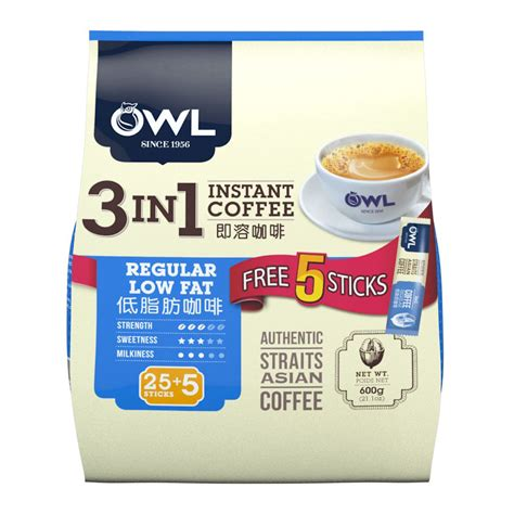 Favourite add to owl creamer cup aaronmurray. OWL | 3in1 Instant Coffee Regular Low Fat 30sX20g | Giant ...