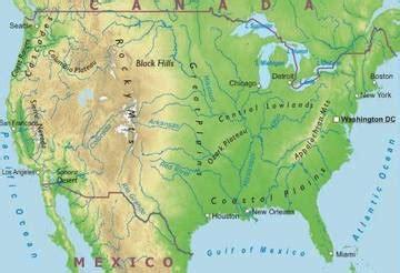 Cartina Geografica Usa Fisica.Cartina Fisica Stati Uniti Drone Fest