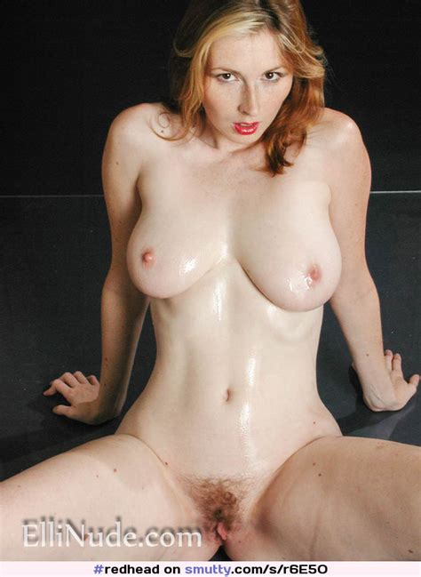 Hot Redhead Oiled Up And Ready For Your Cum More At