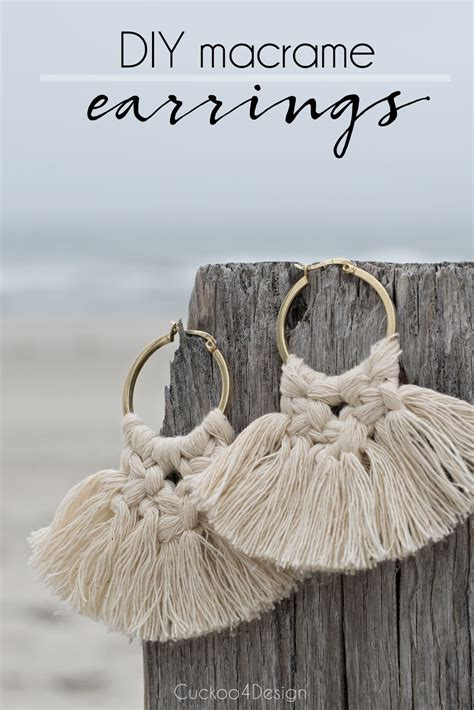 diy macrame earrings cuckoodesign