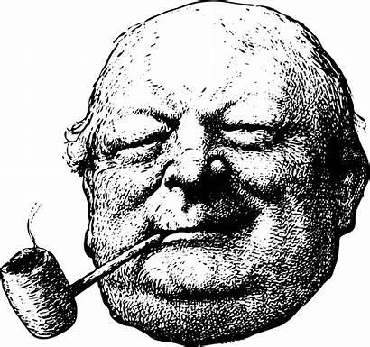 Pipe Smoking Clipart Fat Corncob Vector Human