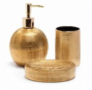Accessoires Pour Salle De Bain : accessoires d co touche m tallique pour la salle de bain ~ Edinachiropracticcenter.com Idées de Décoration