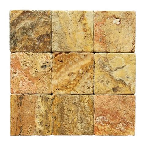 travertine tile 4x4 4x4 scabos tumbled travertine tiles