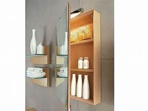 Miroir Salle De Bain Rangement : atina miroir avec rangement ~ Teatrodelosmanantiales.com Idées de Décoration
