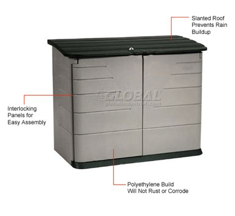 Rubbermaid Horizontal Storage Shed Assembly Buildings Storage Sheds Sheds Plastic Rubbermaid Horizontal Outdoor Storage Shed