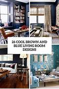 Cool Living Room Designs by 26 Cool Brown And Blue Living Room Designs DigsDigs