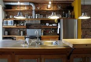 Meuble Cuisine Style Industriel : cuisine style bistrot l 39 incarnation de la convivialit fran aise ~ Teatrodelosmanantiales.com Idées de Décoration