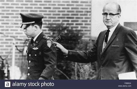 Lt. William Calley Leaves A Military Court With His Chief