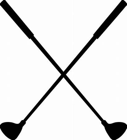 Golf Cross Clubs Clipart Clipartion Crossed