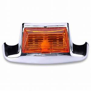 Front rear mudguard trim fender tip led light for harley