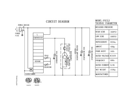 kelvinator model kcpt72 9 refrigeration commercial genuine