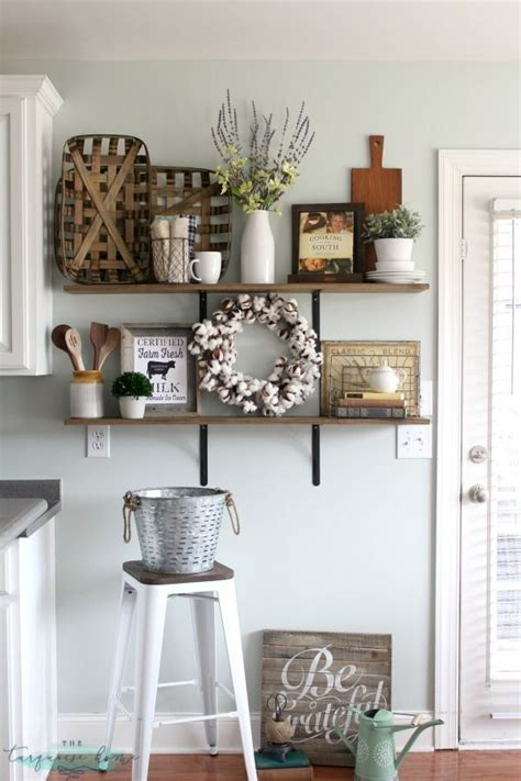 Decorating Kitchen by Decorating Shelves In A Farmhouse Kitchen Kitchen Dining