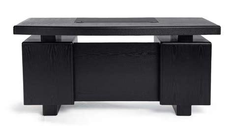 Black Desk by Black Wood Executive Desk Modern Contemporary