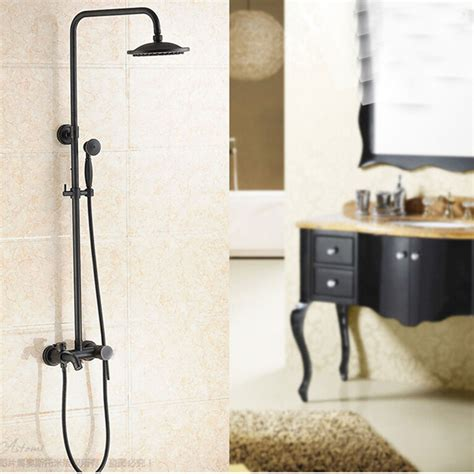 glen oil rubbed bronze wall mounted rainfall shower head  handheld shower tub spout funitic