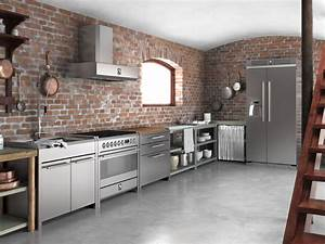 sintesi modulo cucina freestanding by steel With kitchen colors with white cabinets with fenway park wall art