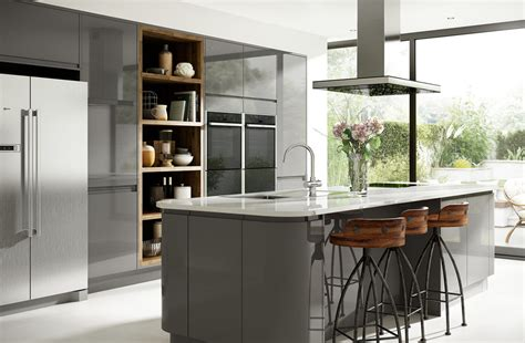 grey lacquer kitchen cabinets grey lacquer cabinets for a high gloss look gray 4082
