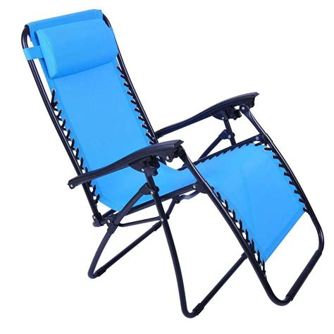 outsunny reclining zero gravity chair light blue
