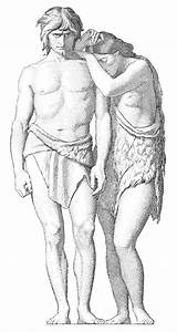 Vintage Religious Clip Art - Adam and Eve Engraving - The ...