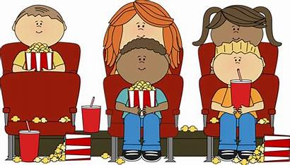 Watching Theater Clip Seats Sitting Graphics Popcorn