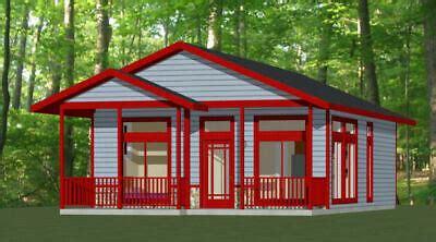 24x32 House 2 Bedroom 2 BathFloor Plan 768