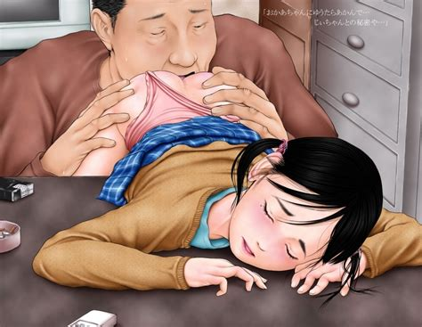 1boy 1girl Age Difference Anilingus Bent Over Black Hair Blush Closed Eyes Father And Daughter