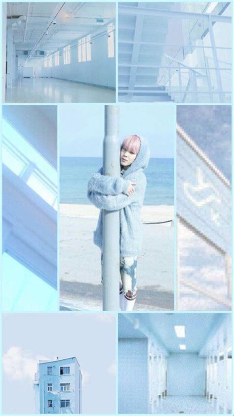 hey    pastel blue aesthetic jimin wallpaper hope