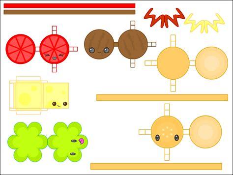 food papercraft template 8 best images of kawaii printable paper cat crafts printable paper crafts kawaii