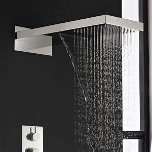 Rainshower and Waterfall Shower System with Thermostatic ...
