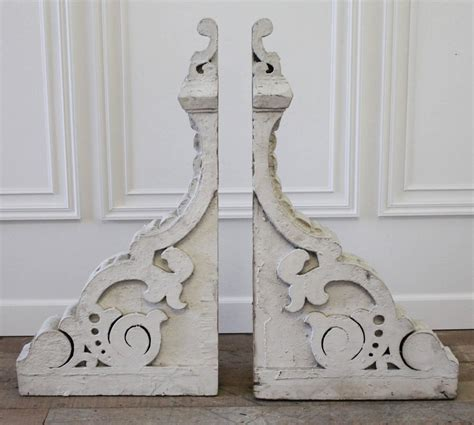 Corbels For Sale by Large Antique Wood Architectural Corbels With Original