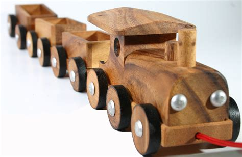 wooden toy train wooden pull toys children  siamcollection