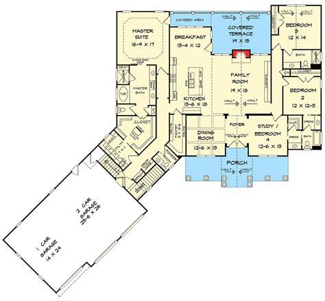 garage floorplans plan 36075dk craftsman house plan with 3 car angled