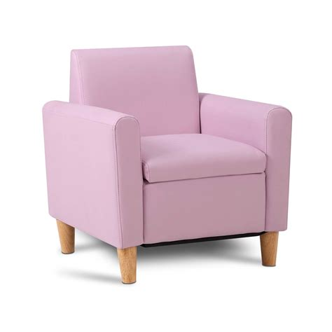 Storage Kids Sofa Pink Children Lounge Arm Couch Chair Pu