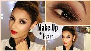 Maquillage De Fête : glitters liner party maquillage de f te facile coiffure youtube ~ Melissatoandfro.com Idées de Décoration