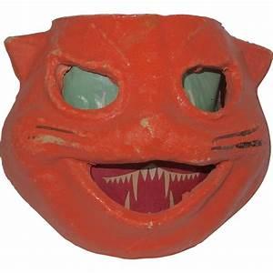 Halloween decoration egg crate/pulp Paper Mache Cat face ...