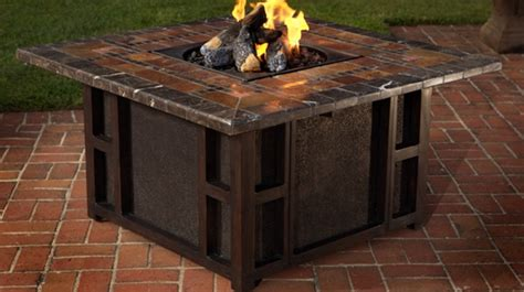 homeofficedecoration outdoor dining tables  gas fire pit