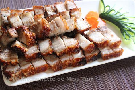 cuisine chinoise poulet croustillant porc laqué croustillant thịt heo quay la kitchenette