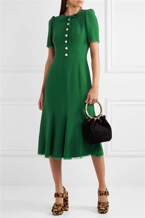 green flare dress dolce gabbana green midi dress kate middleton style