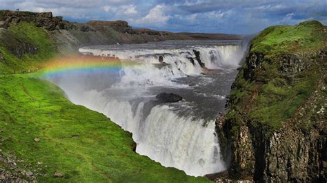 Gullfoss Waterfall Backgrounds by Gullfoss Waterfall South Iceland Travel Guide Nordic