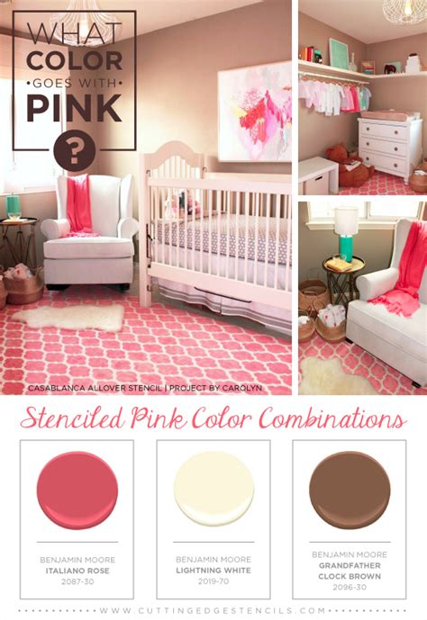color   pink stenciled pink color combinations