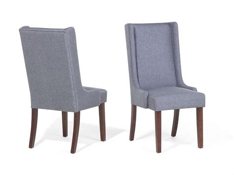 chair dining chair upholstered armless high back grey