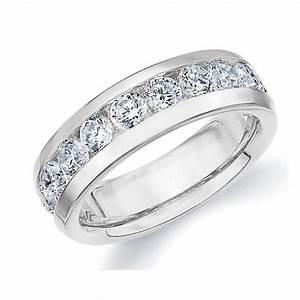 18K White Gold Men39s Diamond Eterinty Ring 15 Cttw F G