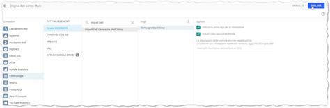 google data studio importare i dati di mailchimp in data studio