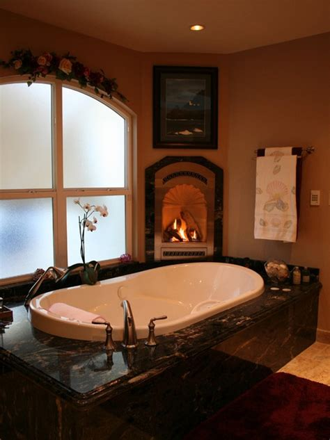 spectacular bathrooms  fireplaces digsdigs
