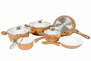 Kupfer Keramik Pfanne : kupfer topfset mit anti bakterieller keramikbeschichtung ~ Sanjose-hotels-ca.com Haus und Dekorationen