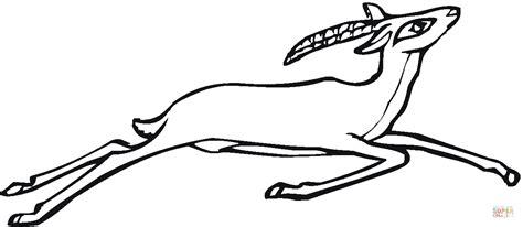 Dibujo De Antílope Saltando Para Colorear