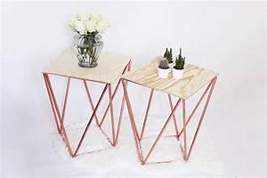 Kreative Tische Selber Machen : beistelltisch selber bauen aus kupfer kreative bauanleitung ~ Markanthonyermac.com Haus und Dekorationen