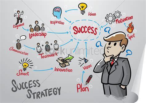 business man   success mind map vector image