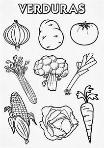 frutas y verduras para colorear Buscar con Google Proyecto Desarrollo fisico y salud